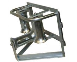 KM-105051 Угловой горизонтальный кабельный ролик для кабеля max Ø 140мм (сталь) Katimex