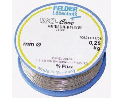 Припой 0,5 мм с безотмывочным флюсом 250г FLD-230205 Felder