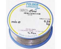 Припой 1 мм со слабоактивированным флюсом 250г FLD-230208 Felder