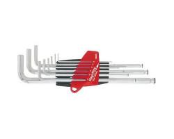 20709Набор штифтовых ключей(хромирование) со сф. головкой в держ. ProStar (9 предм.) WIHA