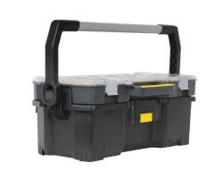 1-97-514 Открытый профессиональный пластмассовый ящик со съемным органайзером Stanley