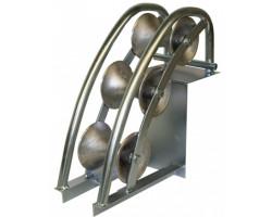 KM-105002 Угловой вертикальный кабельный ролик для кабеля max Ø120мм (700×380×210мм)