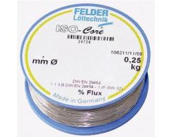 Припой 0,75мм со слабоактивированным флюсом 250г FLD-230210 Felder