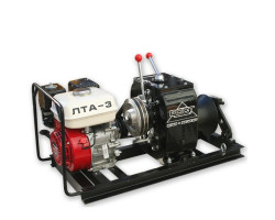 Лебедка для протяжки кабеля с усилием до 3т. (30 kN) с бензиновым двигателем ЛТА-3 РОСТ