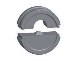 9016200000 Профиль для изолированных медных наконечников и Разъёмов без припоя для инструмента MTR 300 EINSATZPAAR ISO 25QMM Weidmueller
